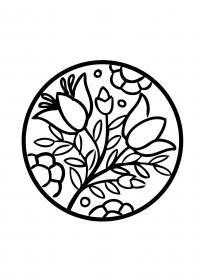 Колокольчики Распечатываем раскраски цветы бесплатно
