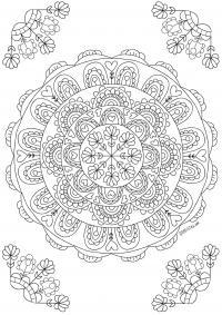 Мандала Распечатываем раскраски цветы бесплатно