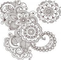 Цветочный узор Распечатываем раскраски цветы бесплатно