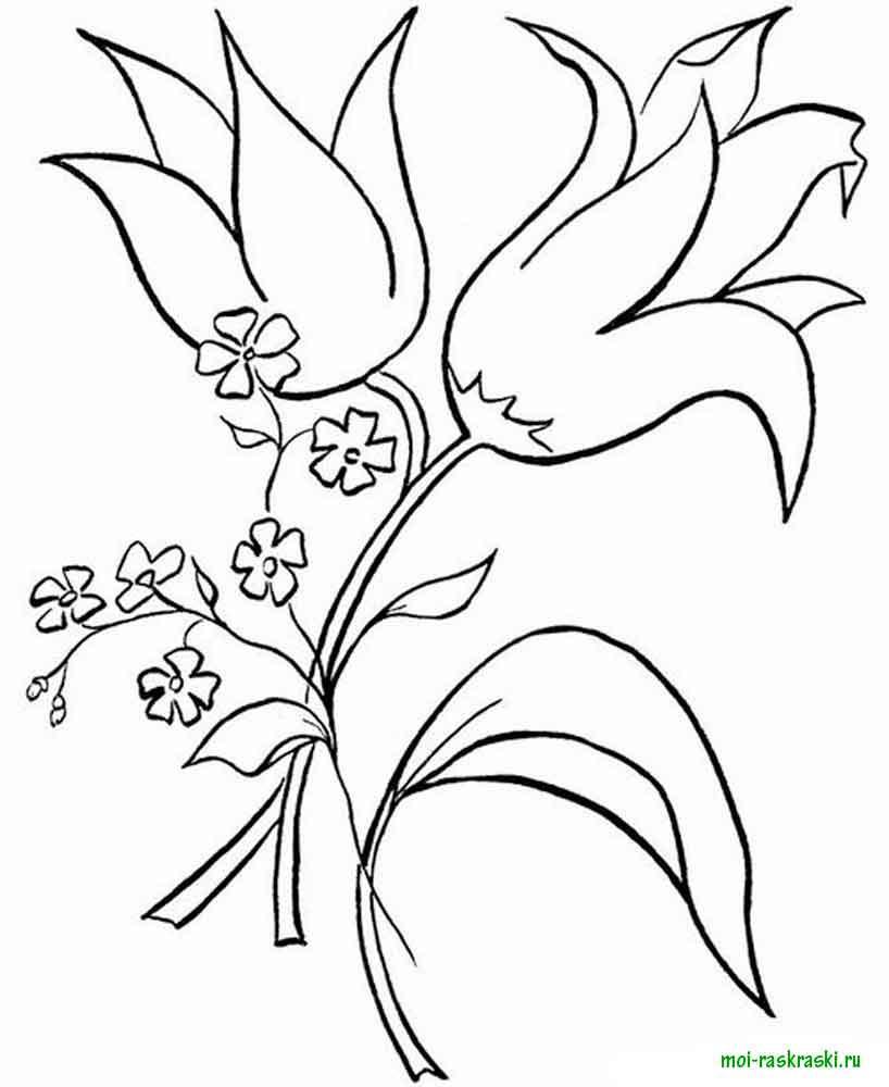 Раскраски цветы колокольчики. скачать и распечатать раскраски... Раскраски цветочки для детей бесплатно
