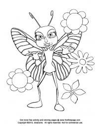 Бабочка с цветами