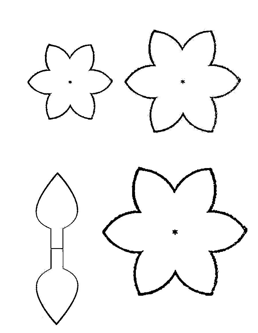 Цветы для вырезания