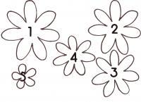 Шаблоны из бумаги цветок ромашка для аппликаций иподелок