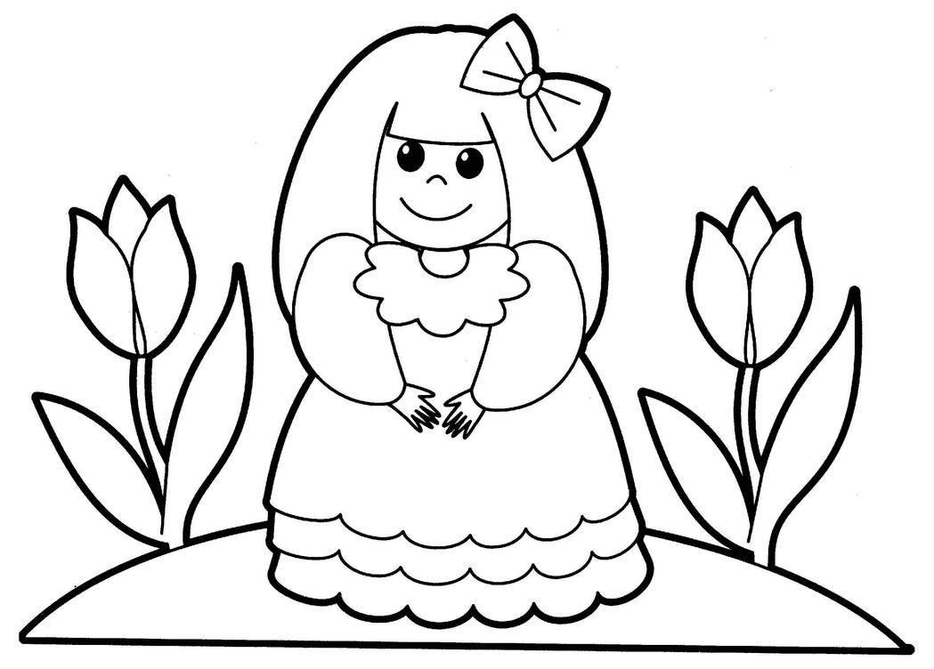 Девочка с тюльпанами