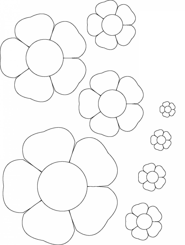 Раскраски цветы шаблоны для вырезания шаблон цветов