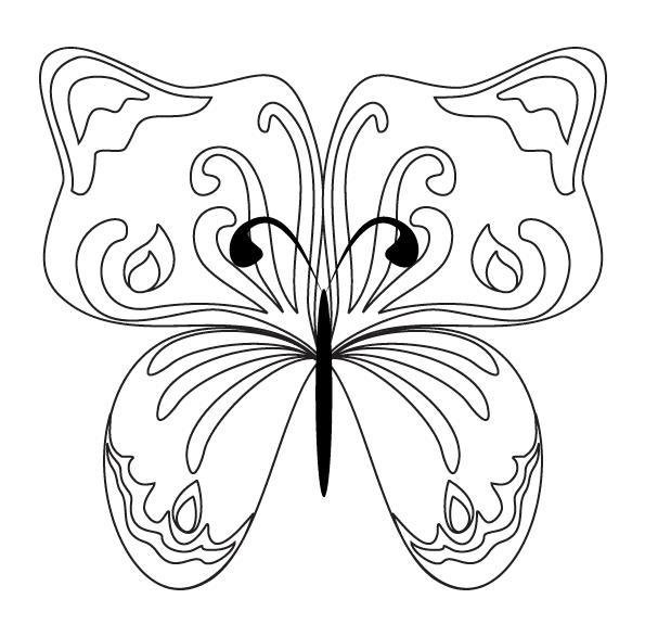 Бабочка узоры с цветами