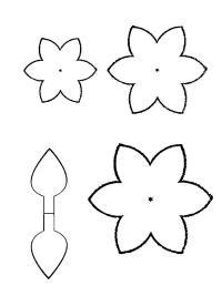 Раскраски цветы шаблоны для вырезания цветок
