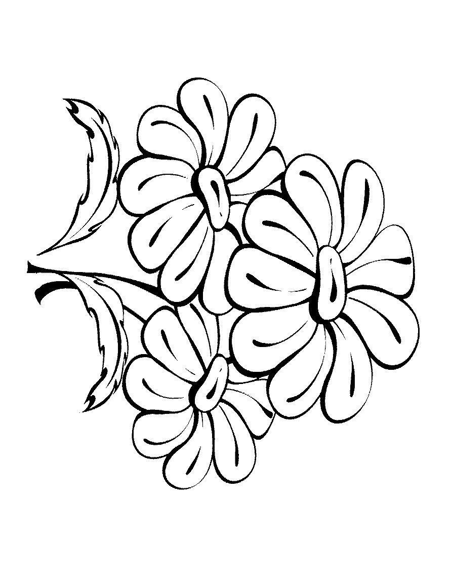Раскраска цветок распечатать бесплатно. ромашка