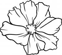 Контур цветка для поделок и аппликаций