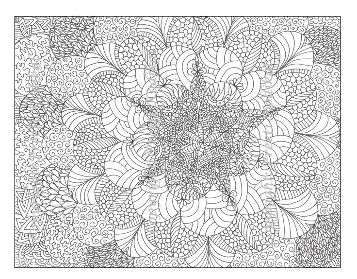 Сложные узоры с цветами