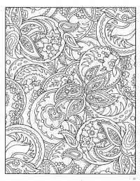 Сложные узоры с цветочным рисунком