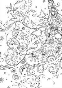 Раскраски антистресс, фантазия из цветов