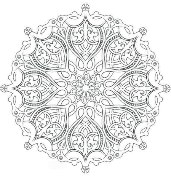 Узор Раскраски антистресс, красивый цветочный узор раскраски цветы