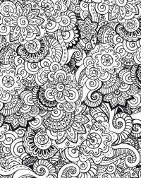 Раскраски антистресс, богатый цветочный узор