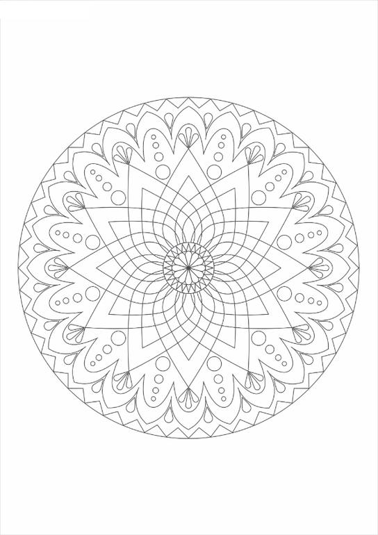Цветы капельки в круге