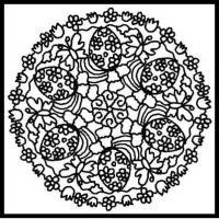 Клумба цветов орнамент