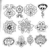 Контур цветка для творчества