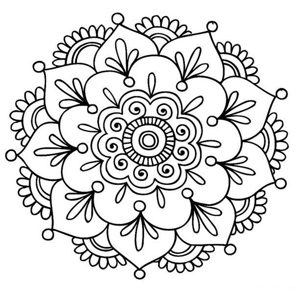 Трафарет цветка