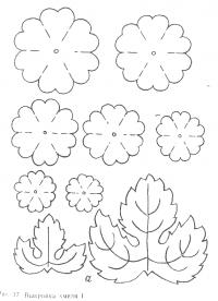 Выкройка цветка для поделок в детском саду