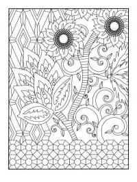 Цветы узоры подсолнухи