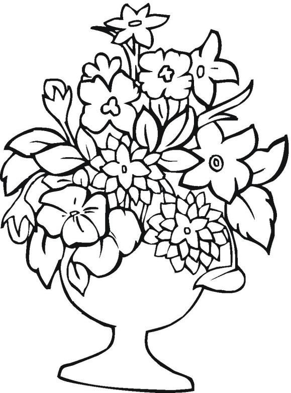 Цветы в вазе с подставкой