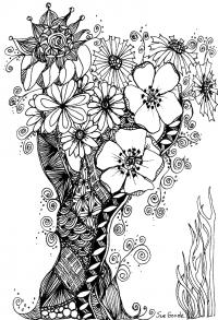 Волшебное дерево с цветочками