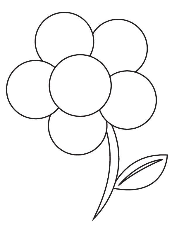 Цветок для малышей из кругов