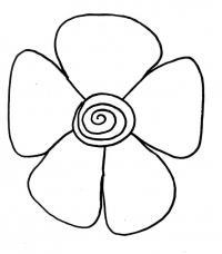 Цветок со спиралькой для маленьких