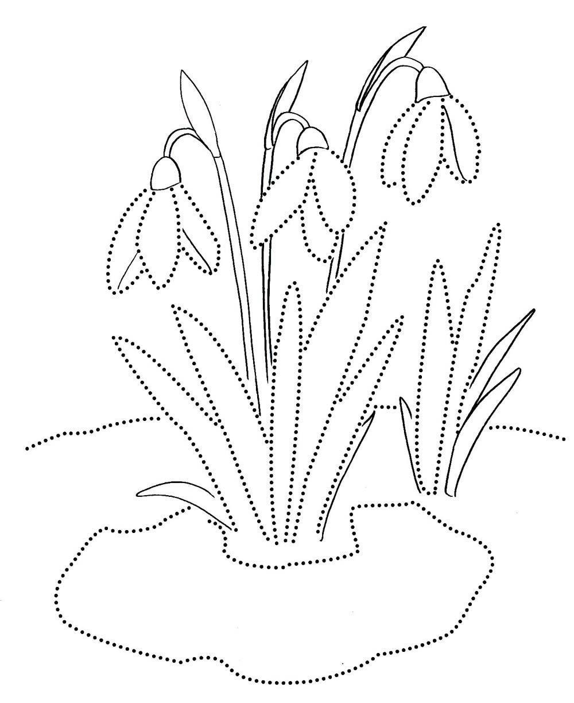 Раскраски весна для детей